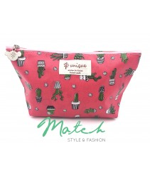 Korea designed handmade multi porch bag - Pink mini Cactus