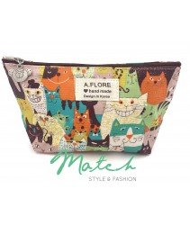 Korea designed handmade multi porch bag - Naughty cat