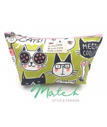 Korea designed handmade multi porch bag - Cool meow cats